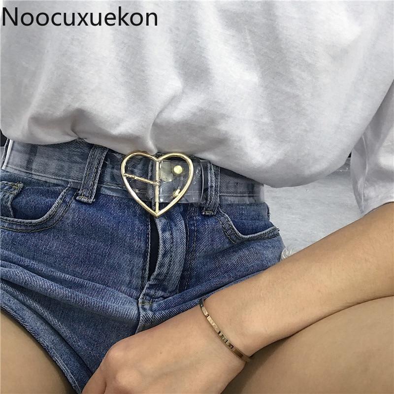 Waist   Belts   Women Resin Transparent Long New   Belt   Adjustable Waist Dress band Transparent   Belt   Heart Buckle Waist Sweet   Belt