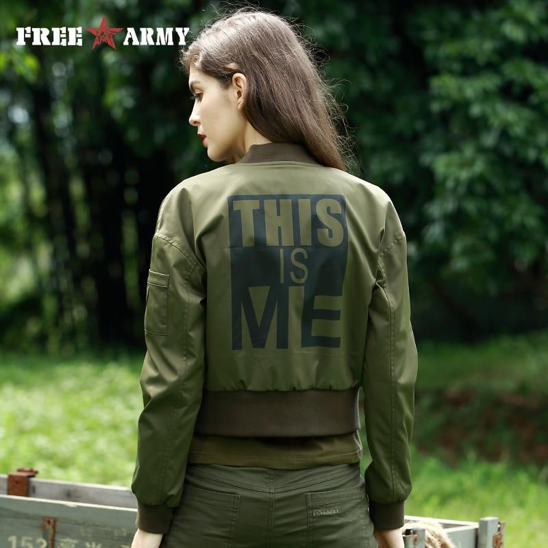 e143a2f16f6 Army Green Mujer Mujeres Ejército Freearm Moda Chaqueta Corto Y Militar  Verde Abrigos Abrigo Slim De ...
