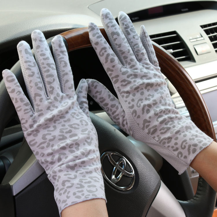 Women's Summer Short Design 100% Cotton Gloves  Lady's Thin Summer Anti-uv Sunscreen Driving Gloves R155