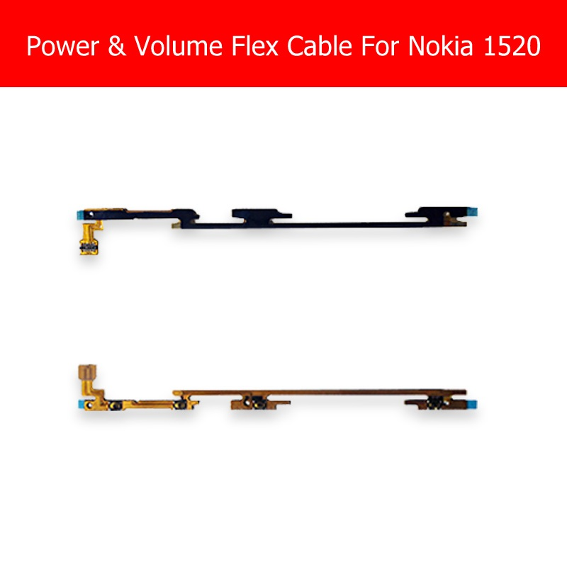 Power & Volume Flex Cable For Nokia 1520 Power On/Off Switch For Microsoft Lumia 1520 Volume Side Key Flex Cable Replacement