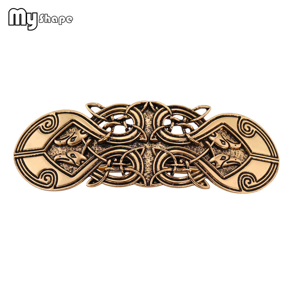 My Shape Vintage Hollow Bird Engraved Hair Clips Irish Knot Weave Hairpins Antique Silver Gold Women's Jewelry Hair Accessories