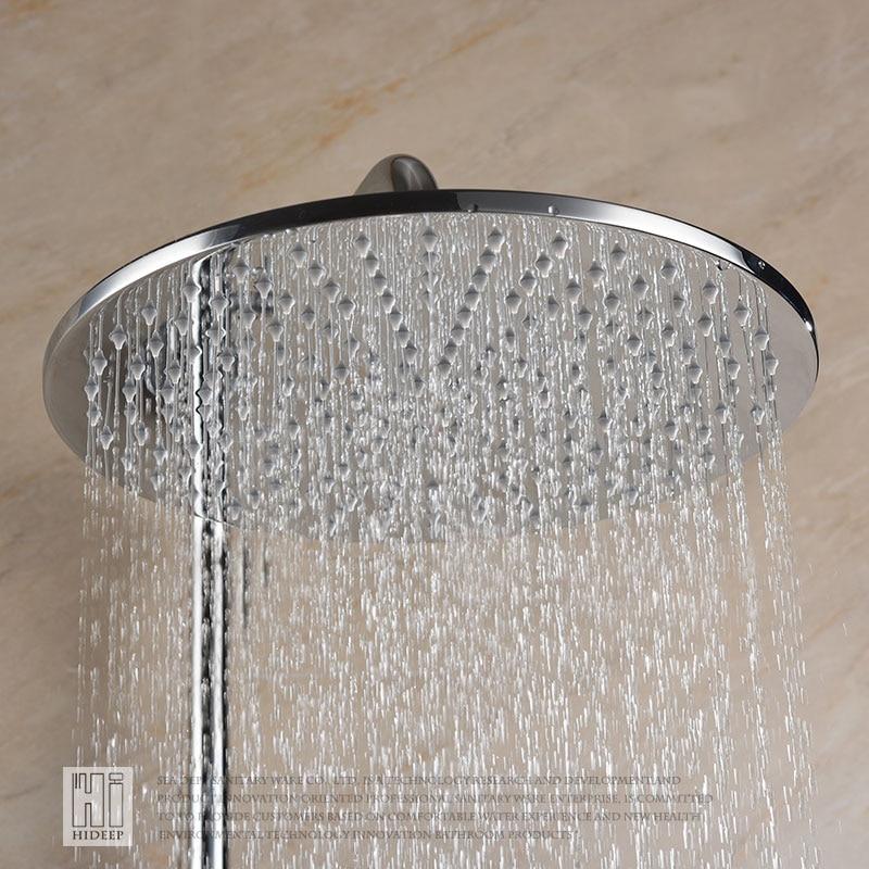 hideep inch rainfall shower head bathroom shower faucet head rain ultrathin