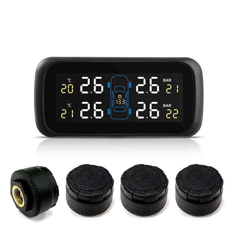 Universal Multifunction Car TPMS Tire Pressure Color Display Cigarette Lighter Monitor High Accurate