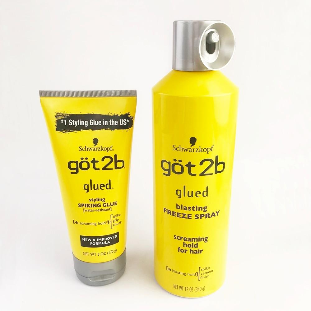 Hair Gel Hair Styling got2b Waterproof Hair Styling Products Hair Custom Shape Glued 150ml Makeup Stage Salon Hair Style Онихомикоз