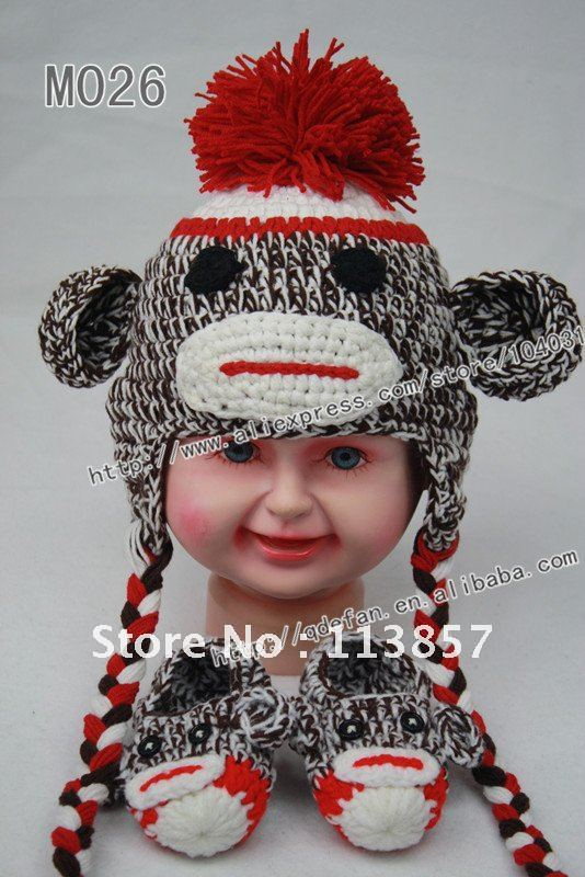 Free Shipping 10pcs 100 Cotton Crochet Baby Booties And Hats