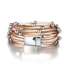 Women's Multilayer Leather Charm Bracelet