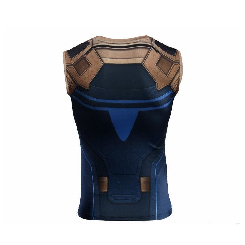 2018 Avengers Infinity guerre Thanos T-shirt Cosplay Thanos Super-héros Vest T-shirts
