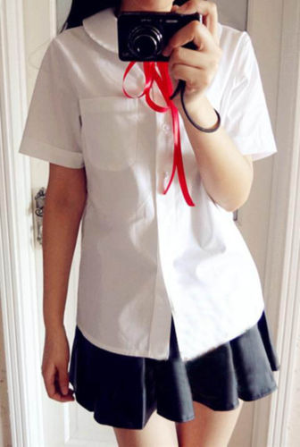 c5c3a858399 Japanese School Uniform Style Girls French Toast Blouse Peter Pan Collar  Uniform Shirt Tops-in Blouses   Shirts from Women s Clothing on  Aliexpress.com ...