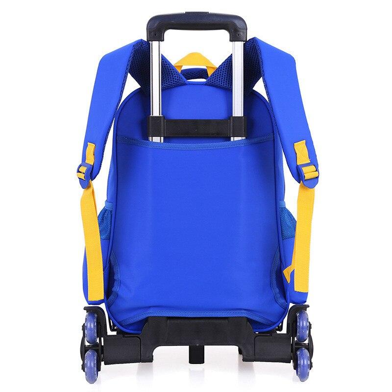 2/6 바퀴 초등학교 여행 트롤리 가방 캡틴 아메리카 어린이 트롤리 소년과 3d 배낭 학교 가방 어린이 휠-에서학교가방부터 수화물 & 가방 의  그룹 3