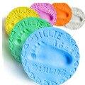 6 Colores baby care Secado Al Aire Suave Bebé Arcilla Huella Huella huella digital almohadilla de tinta Huella Kit Echando mano del Padre-niño