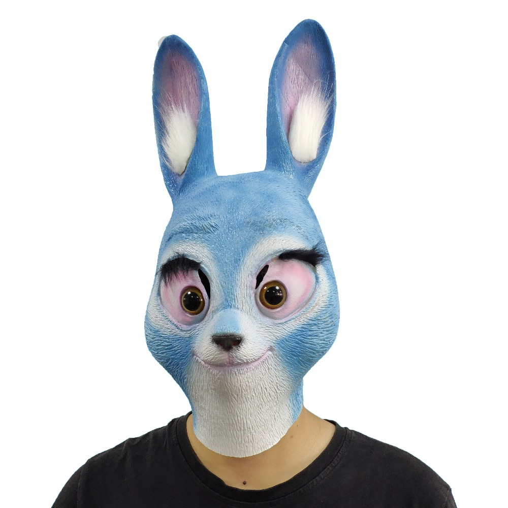 White leather rabbit mask Leather bunny mask Leather fetish |Rabbit Face Mask
