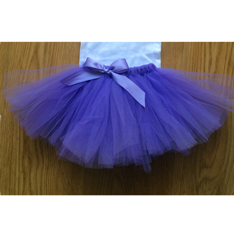 New novelty bow solid girl tutu skirt 2016 colorful birthday gift for your cuttiest one Webbing party flower girls tulle skirts