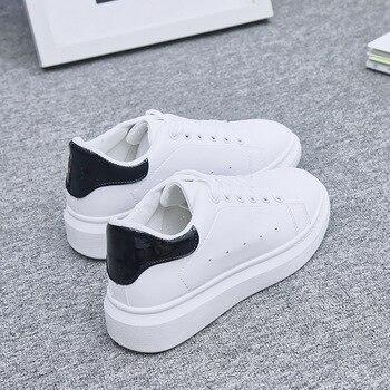 0f03210ec Женская обувь; белые кроссовки для женщин; Вулканизированная обувь; сезон  весна-осень; женская повседневная обувь; кроссовки; tenis feminino