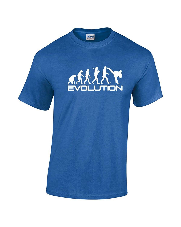 Top Quality 2018 New Brand Fashion T Shirts Karate Evolution Martial Evolution Arts Funny Premium Men'S T Shirt