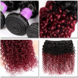 Image 4 - רך מרגיש שיער קינקי קרלי חבילות עם סגירה ברזילאי שיער Weave חבילות עם סגירת רמי שיער טבעי 3 חבילות עם סגירה