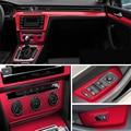 Для Volkswagen VW Passat B8 внутренняя Центральная панель управления дверная ручка 3D/5D наклейки из углеродного волокна наклейки для автомобиля Стайл...