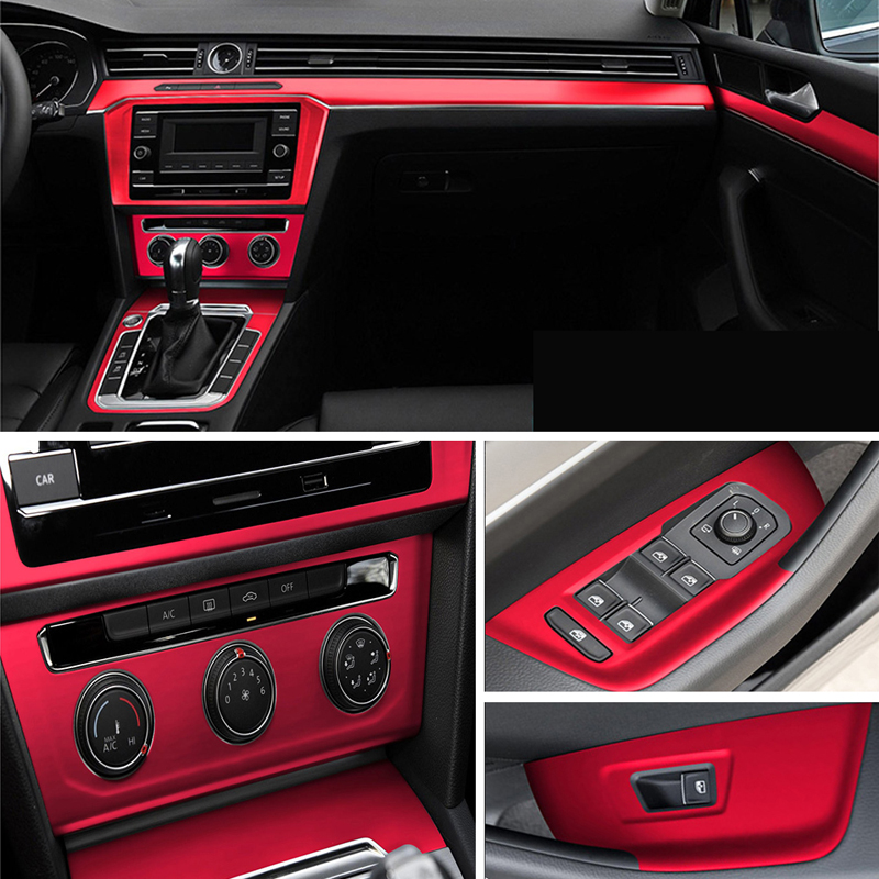 For Volkswagen VW Passat B8 Interior Central Control Panel Door Handle 3D/5D Carbon Fiber Stickers Decals Car Styling Accessorie