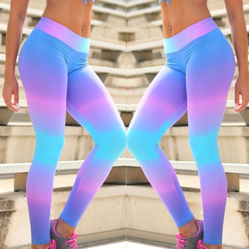 2019 New Printing Leggings Push Up Elastic Pencil Pants High Waist Legging Patchwork Fitness Jeggings Breathable Casual Leggings 1