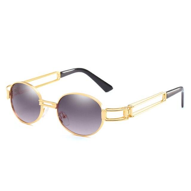 595a383b4e Retro Steampunk 90s Sunglasses Women Men 80s Tinted Hipster Clear Sunglass  Vintage Gold Metal Frame Sun Glasses Eyewear