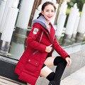 Горячие продажа зима ватник женщины тонкий длинные вниз пальто хлопка с капюшоном зимнее пальто женщин DX326