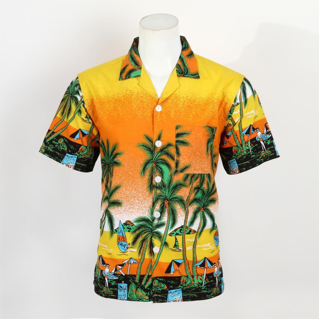 Mens Hawaiian Shirt Plus Size Thin Mens Floral Print Shirt