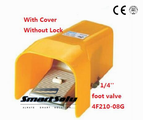 5pcs/lot Fedex Free Shipping Pneumatic 1/4 1/4 inch 5 Port 2 Position Air Foot Valve Manual Pedal Valves With Guard 4F210-08G quality guarantee yellow matte vinyl wrap film foil car sticker with air bubble free fedex free shipping size 1 52 30m roll