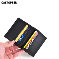 2015 New Arrival Unisex 100 Genuine Cowhide Real Leather Business Card ID Holder Credit Cards Wallet