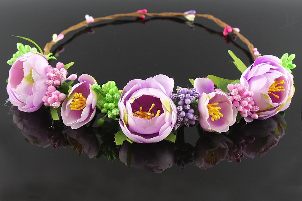 Romantic Wreaths Wedding Wreath Headband Bridal Crown artificial flowers hair accessories Bridesmaid Headpiece garlands wreath