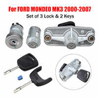 1Set Car Door Lock Set Ignition Petrol Cap Cover Rear Trunk Boot Lock Left For FORD For MONDEO MK3 2000 - 2007