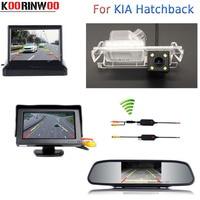 Koorinwoo Special Wireless Auto Parking System For KIA Hatchback Car Mirror Monitor Digital Car Rear View