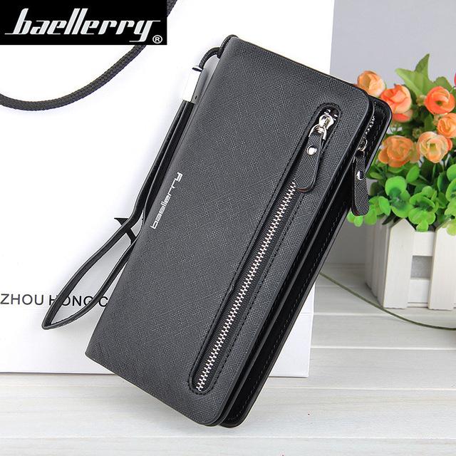 Women Wallets Leather Purse Long Zipper Casual Clutch Wallet Wristlet Portefeuille Carteira Feminina Monedero Solid Black Colors