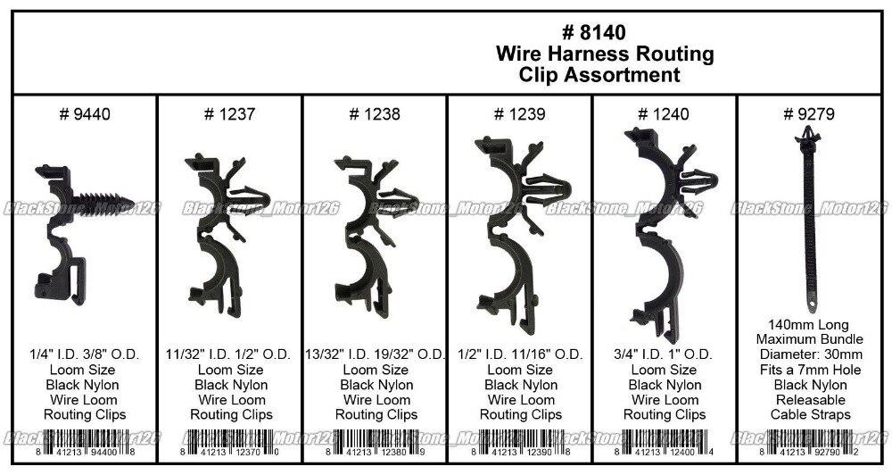 BBQ@FUKA 54pcs Wire Harness Wire Routing Clip Assortment Car ...