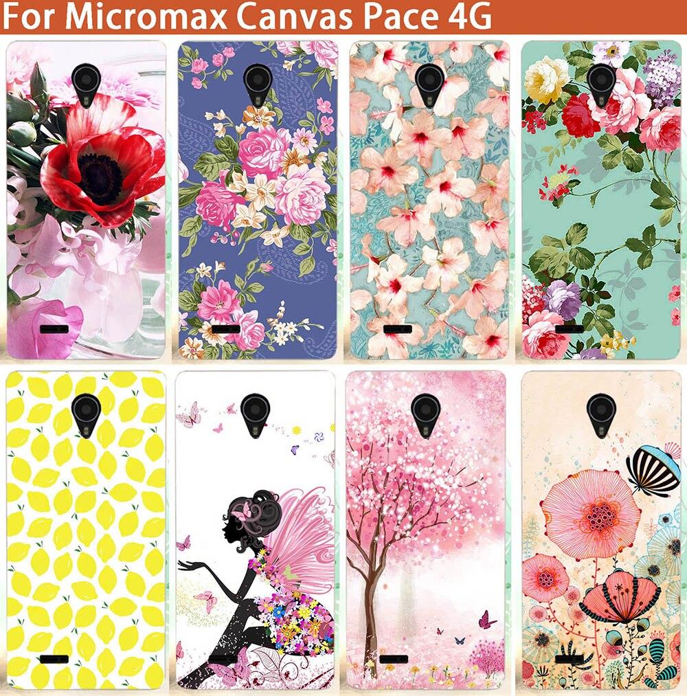 Высокое качество 10 Вышивка Крестом Картины напечатаны красивые цветы ТПУ Телефон чехол для <font><b>Micromax</b></font> Canvas темп 4 г <font><b>Q415</b></font> DIY Цветной живопись Чехлы для&#8230;