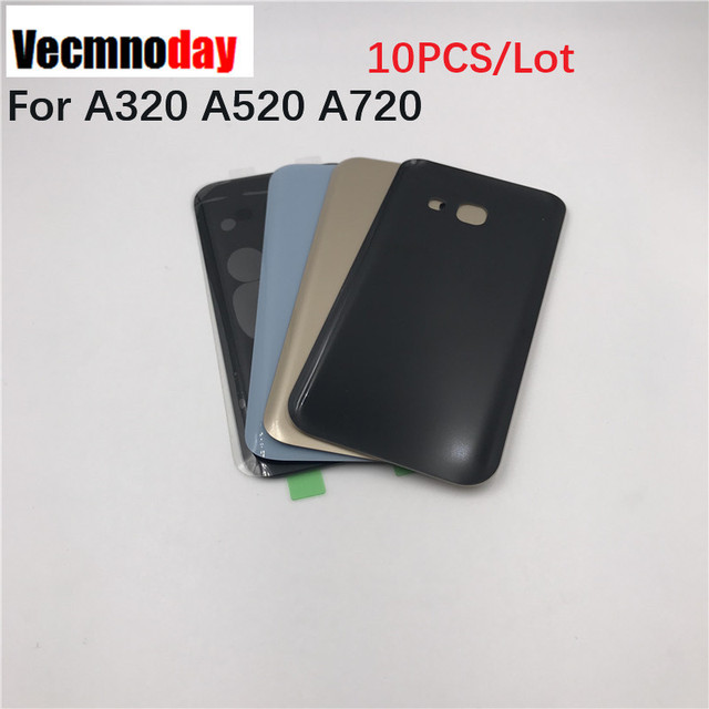 Vecmnoday 10PCS original Battery Glass Cover Housing Replacement For Samsung Galaxy A3 A5 A7 2017 A320 A520 A720 Back Door