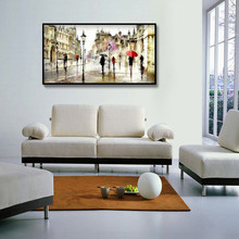 Special Forms, Diamond Embroidery, Paris streets red umbrella, 5D Painting, Cross Stitch 3D Mosaic,