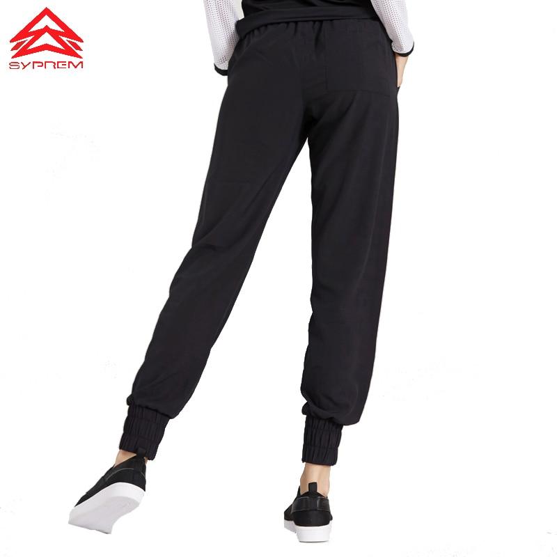 Syprem Women Sports Pants Loose Black Long Pants Girl Fitness Running Sports Wear,1FP8048