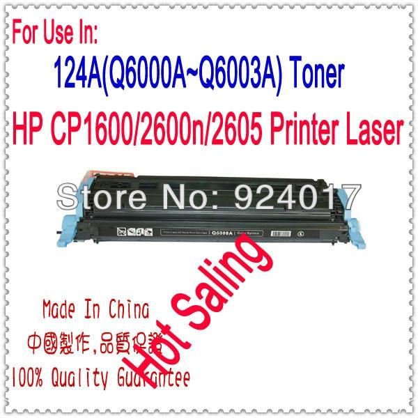 4PCS High Quality Toner Q6000A for HP LaserJet 124A 1600 2600 2600n 2605 2605dtn