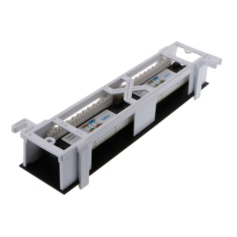 Image 2 - Network Tool Kit 12 Port CAT6 Patch Panel RJ45 Networking Wall Mount Rack Mount Bracket-in Networking Tools from Computer & Office