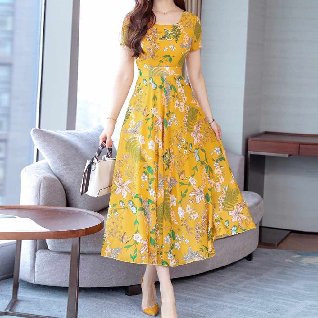 Plus Size Summer Maxi Dress 2019 Women Floral Print Long Dress Party Dresses Woman Party Night Elegant Dress
