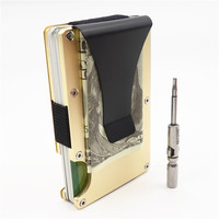 Fashion Credit Card Holder Travel Mini RFID Wallet Men Slim Card Case Male Money Clip Small