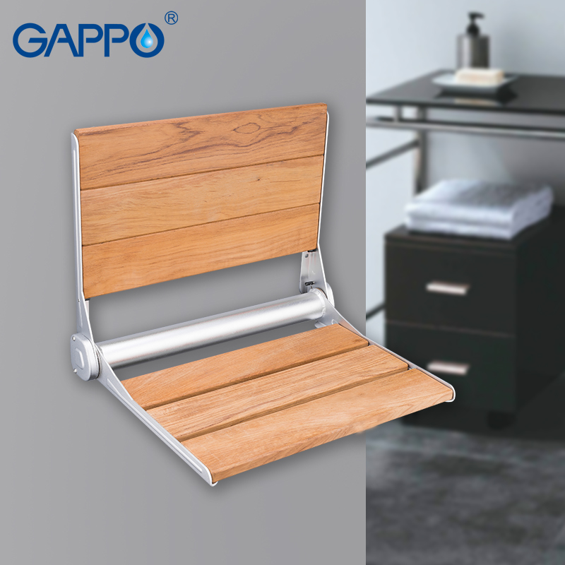 folding chair for bathroom how to make a kitchen wall mounted drop leaf stool foldable shower seating gappo seats relaxation solid seat bath