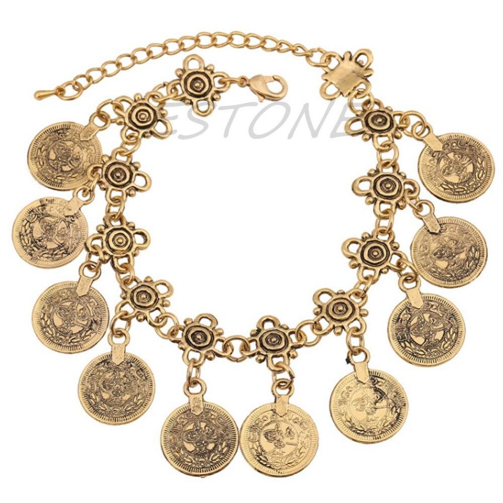 Vintage Coin Infinity Charm Cuff Bangle Tassel Bracelet Wrap Bracelet Jewelry W715