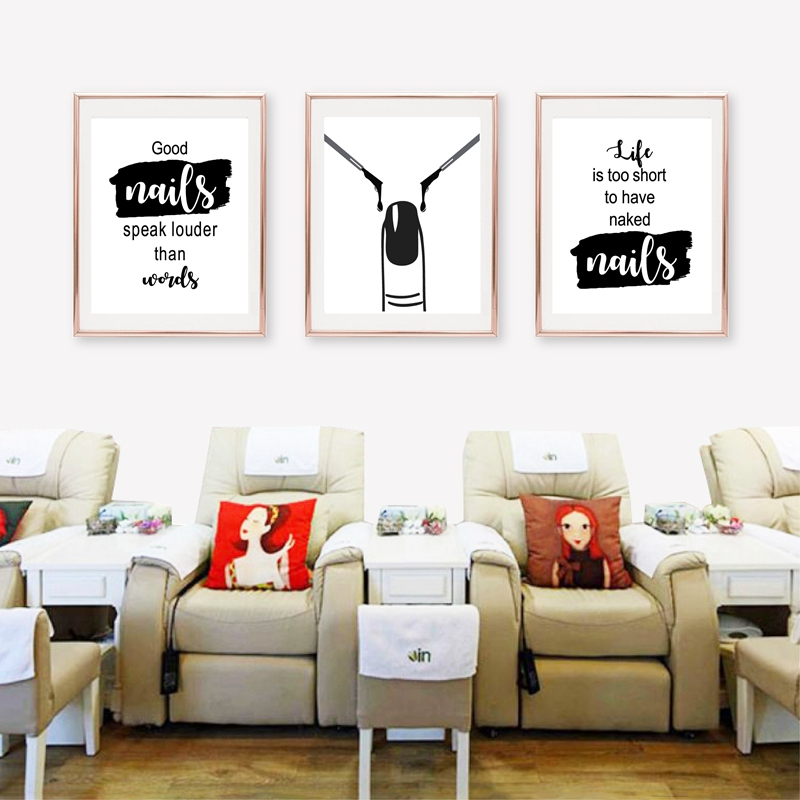 Wall Decor Nail Salon Art Canvas