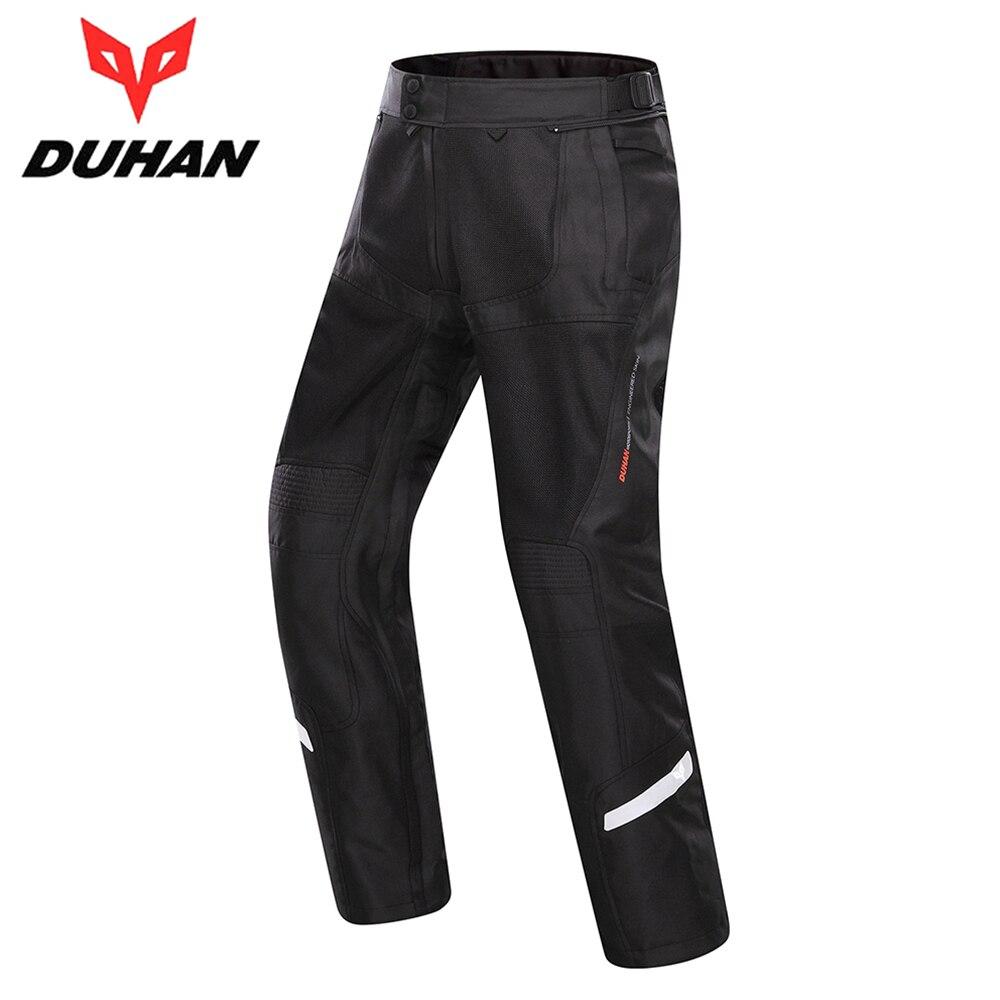 DUHAN Men Summer Cool Breathable Mesh Motorcycle Racing Pants Clothing Motorbike Touring Cruiser Chopper Street Riding Trousers