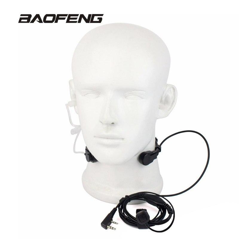 Extendable PTT Throat Microphone Mic Earpiece Headset for Baofeng CB Radio Walkie Talkie UV-5R 8W UV-5RE UV-B5 GT-3