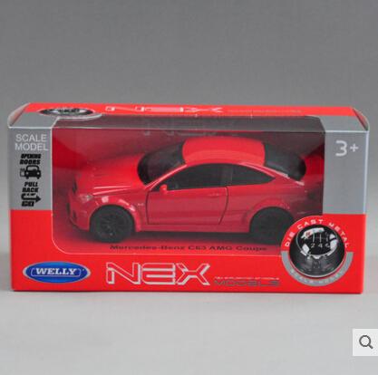 Envío gratis Mercedes Benz C63 AMG aleación Welly 1:36 Original modelo de coche Tire Hacia Atrás de Fast & Furious Coupe Toy Boy regalo