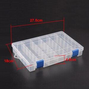 Image 2 - Inteligente ajustável 6 compartimento caixa de pesca plástico iscas pesca enfrentar ganchos iscas armazenamento caso carpa pesca acessórios