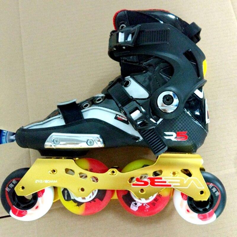 Prix pour Livraison gratuite adulte de vitesse patins chaussures shell R5 avec cadre et roues