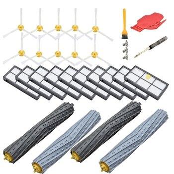 Набор сменных аксессуаров для Irobot Roomba 800 Series 850 860 861 866 870 880 890 900 Series 960 980,10 фильтр, 10 боковых щеток