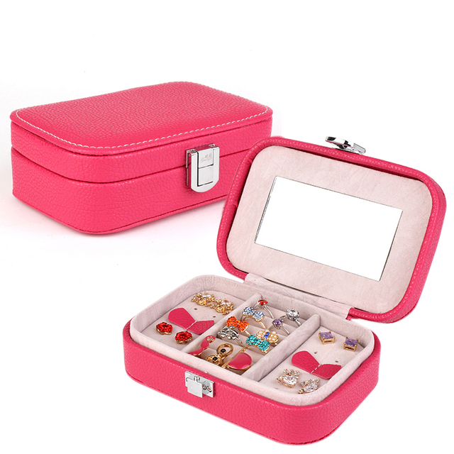 Women Alligator Grain Solid Pure Sweet Colors Accessories Box Gift